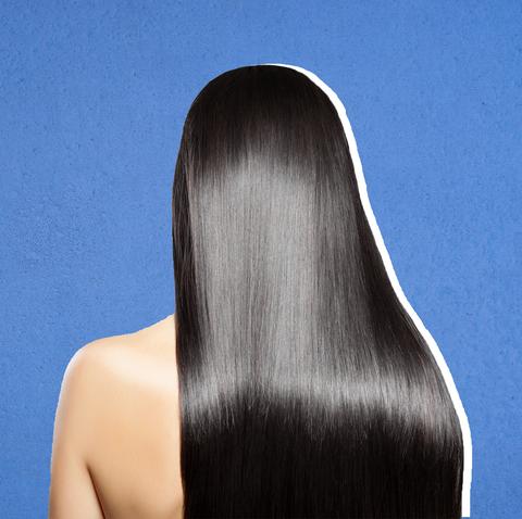 Hair, Hairstyle, Long hair, Black hair, Chin, Brown hair, Step cutting, Hair coloring, Back, Artificial hair integrations,