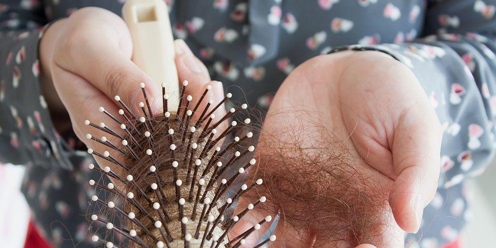 Hair loss chunk of hair in brush