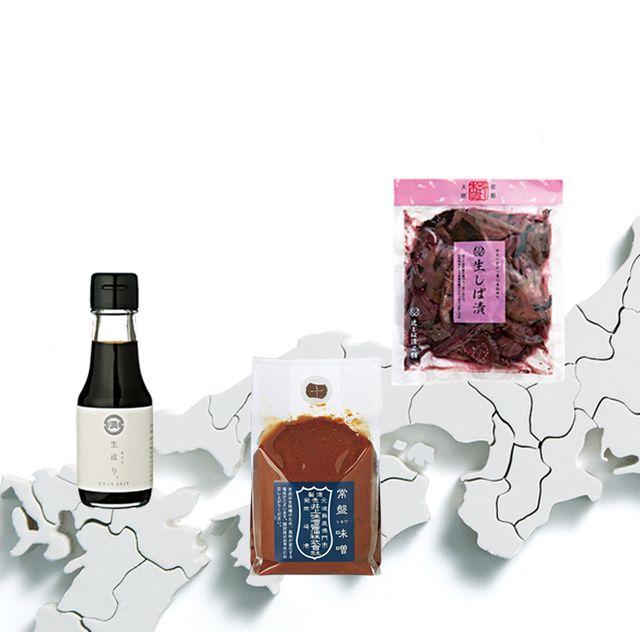 発酵食品と日本地図