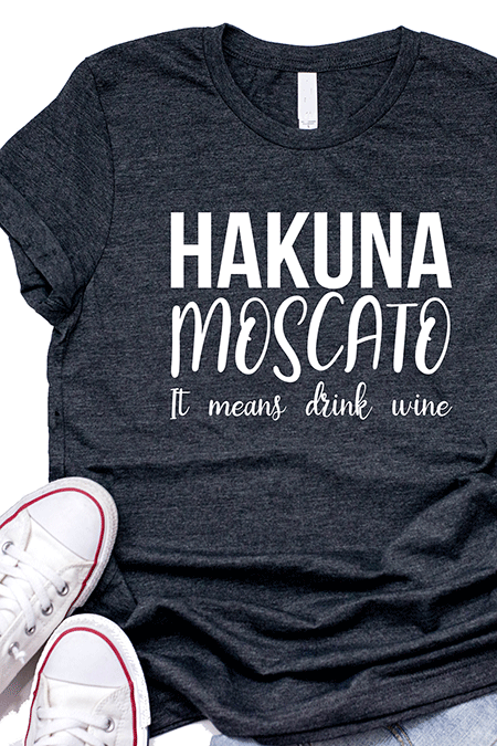 Mother's Day Wine Gifts for Her - Hakuna Moscato T-Shirt