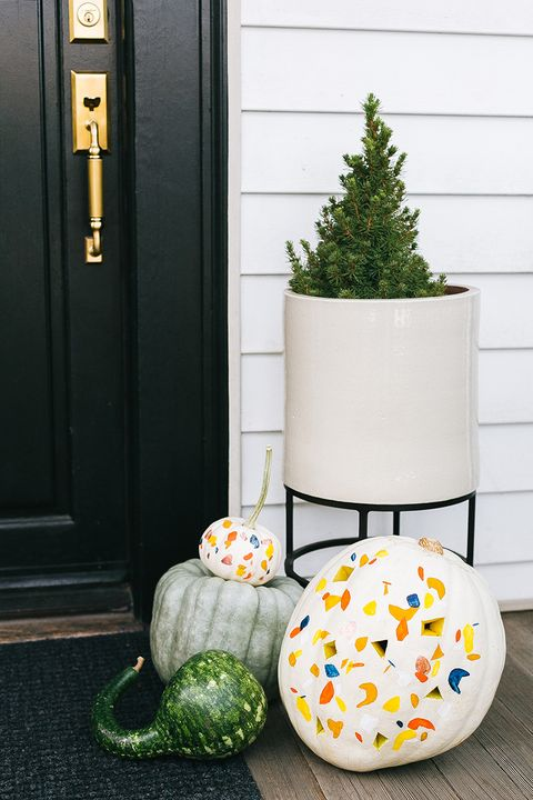 terrazzo pumpkin