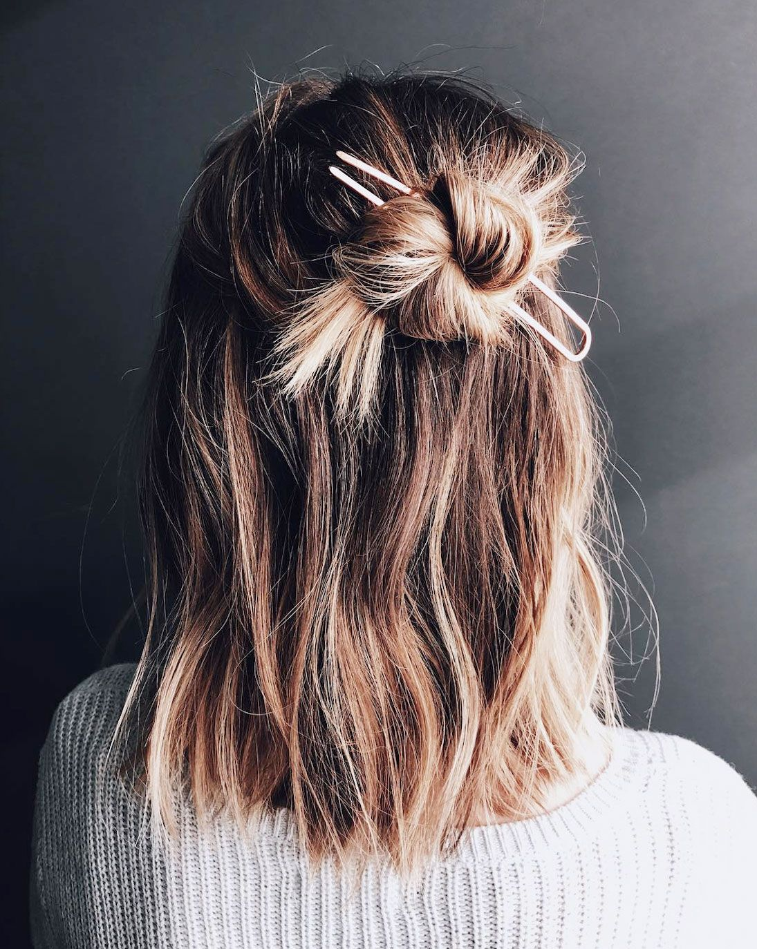 12 Half Bun Hairstyles for 12 - How to Do a Half Bun Tutorial
