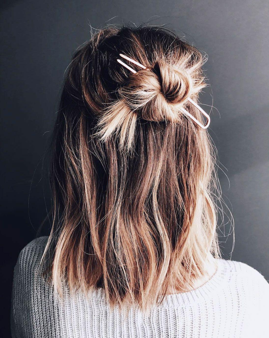16 Half Bun Hairstyles for 2019 , How to Do a Half Bun Tutorial
