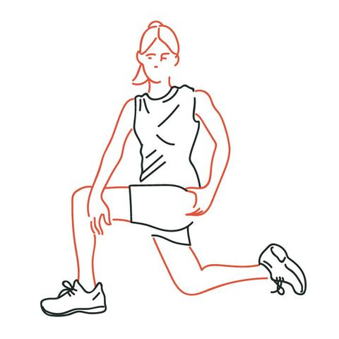 half kneeling hip groin stretch