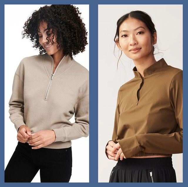 best half zip seaters and pullovers for women