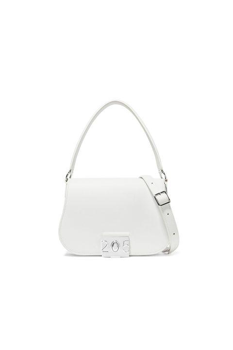 half price designer bag -CALVIN KLEIN 205W39NYCBonnie grosgrain-trimmed leather shoulder bag