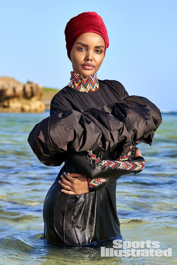 7d667c16d2 Halima Aden Is the First Sports Illustrated Swimsuit Model to Wear a  Burkini and Hijab.