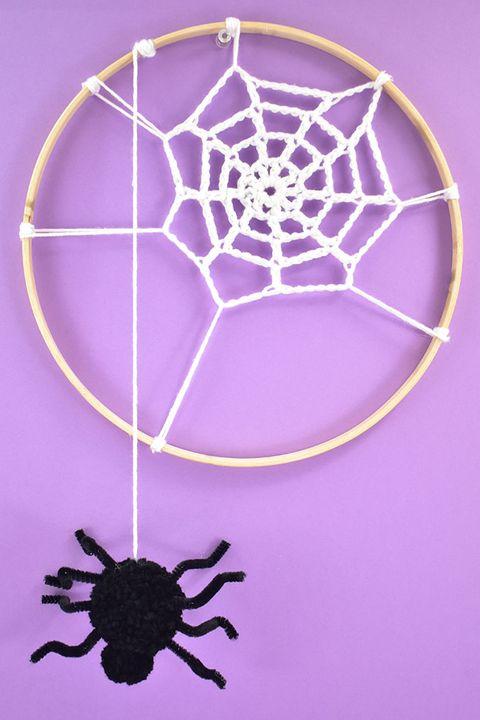 embroidery hoop spider webs