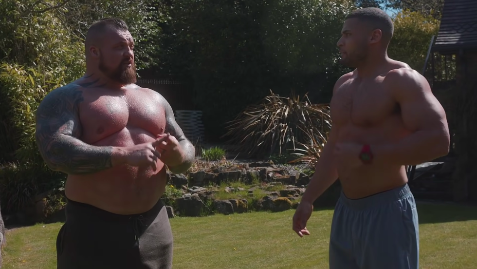 Watch Strongman Eddie Hall Do a CrossFit Workout With the 'U.K.'s Fittest Man'