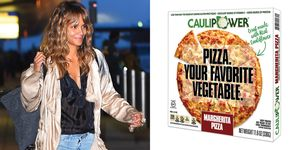 Halle Berry and Caulipower Margerhita Pizza