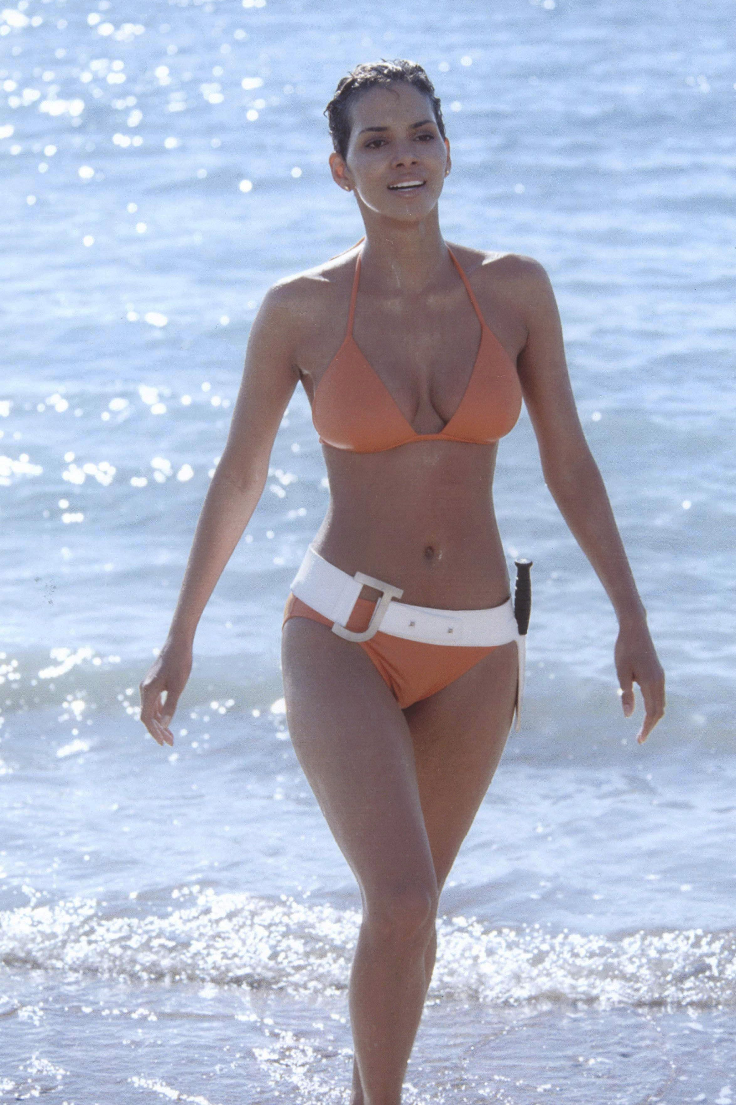 Halle Berry, 53, just recreated her iconic 'Bond girl' bikini moment 18 years later