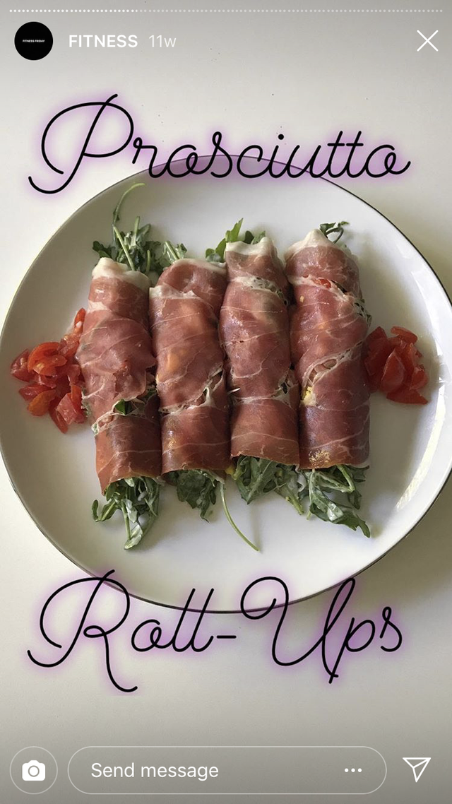 halle berry proscuitto roll-ups