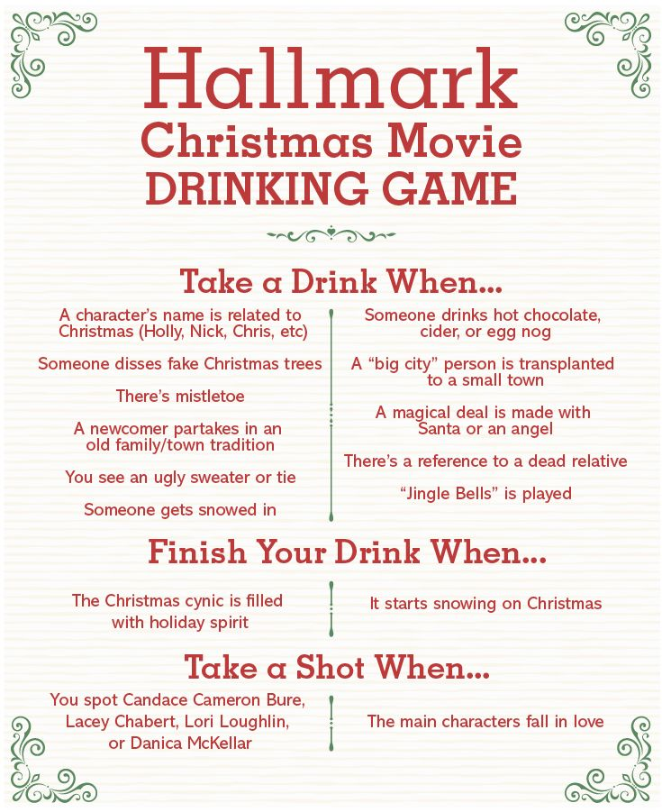 This Hallmark Christmas Movie Drinking Game Officially Wins the Holidays