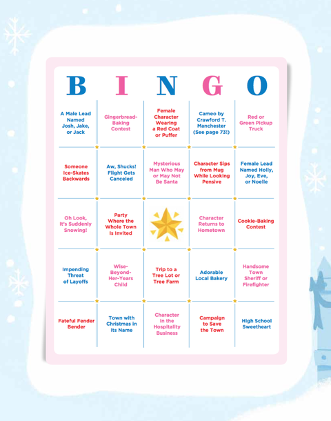 hallmark movie bingo card
