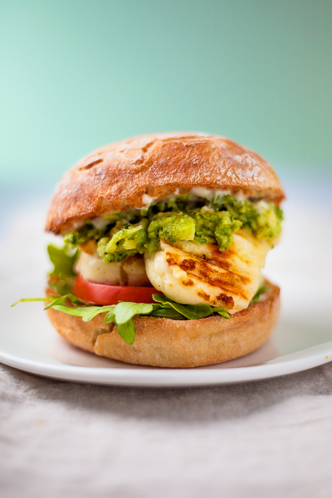 Halloumi burger recipe