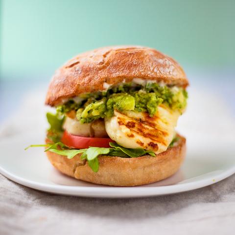 best vegetarian bbq recipes halloumi burger