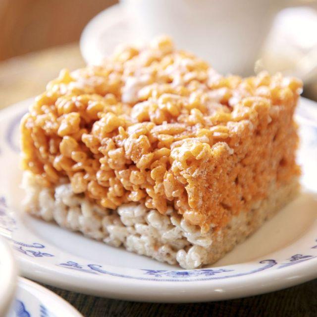 halloween rice krispie treats recipes pumpkin spice krispie treat