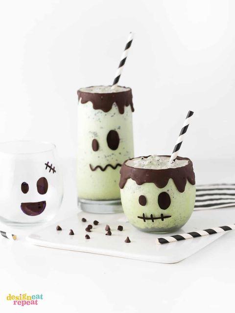 easy frankenstein milkshakes