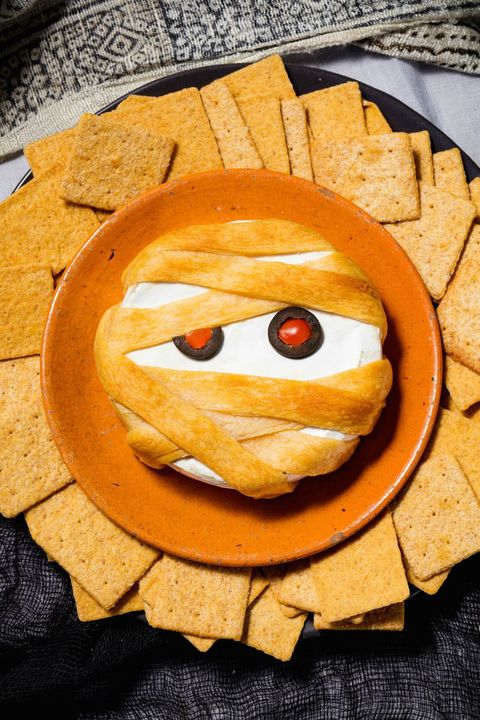 Halloween Appetizers - Mummy Brie
