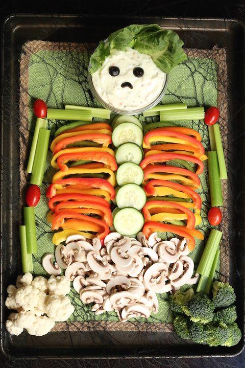 halloween appetizers veggie tray