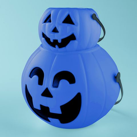 Blue Halloween Buckets for Autism - Mom's Facebook Post