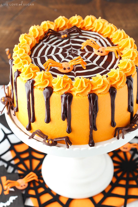 halloween cake spider