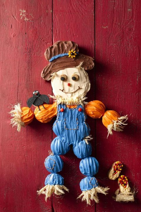 halloween cakes cupcake scarecrow