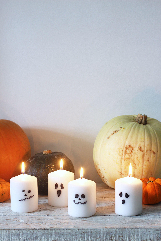 halloween candle diy ghost