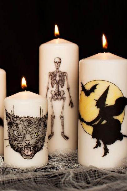 halloween crafts diy halloween candles