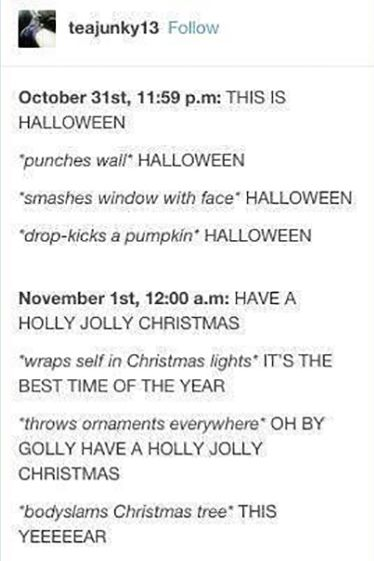 halloween and christmas meme