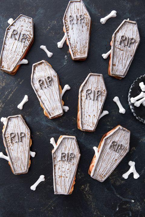 coffin sandwich cookies recipe halloween treats