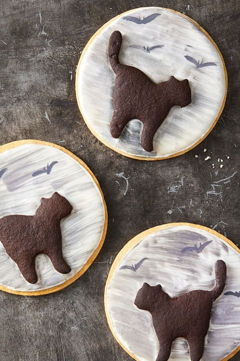 halloween cookie recipes   black cat cookies