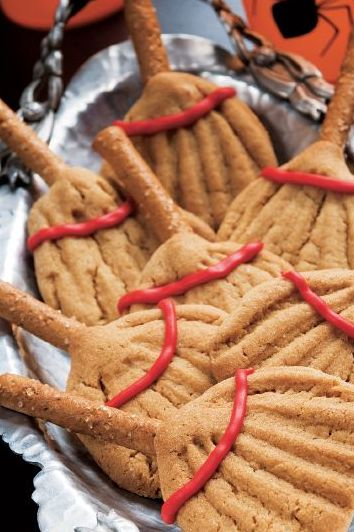 halloween cookies - broom cookies