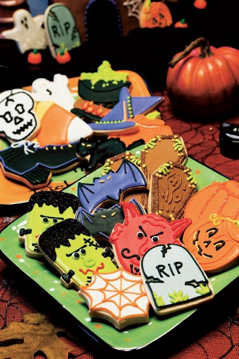 halloween cookies - decorated cookies