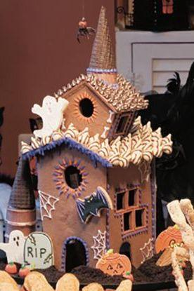 halloween cookies - cookie house