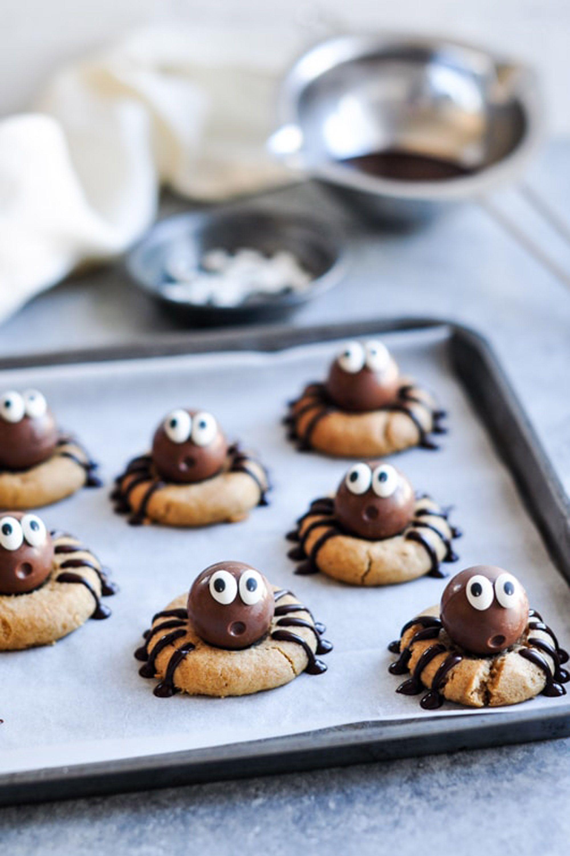 halloween cookies spider