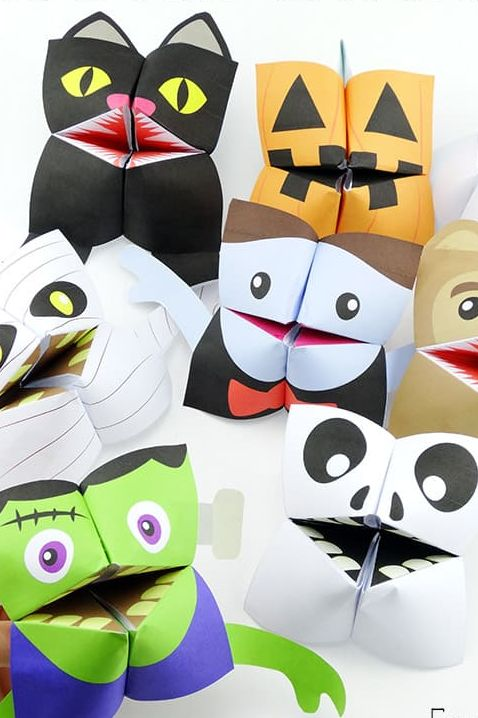 halloween cootie catcher game for kids