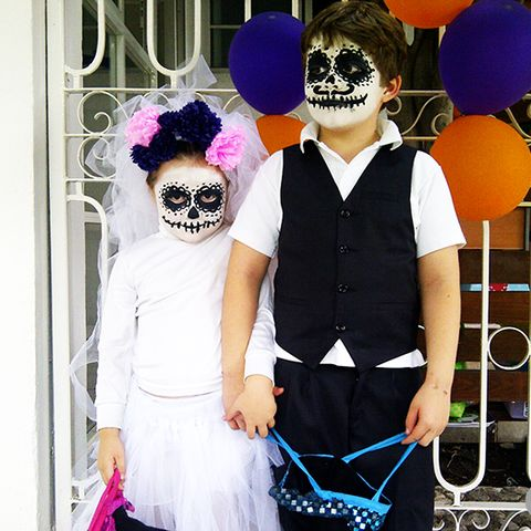 halloween costume ideas for kids   sugar skull bride and groom