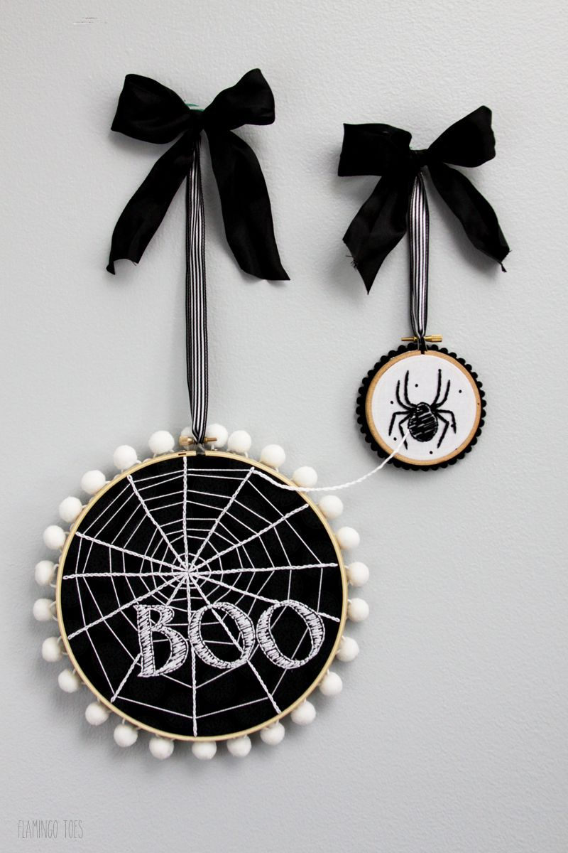 halloween craft embroidery hoop