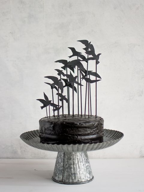 halloween crafts crows cake topper