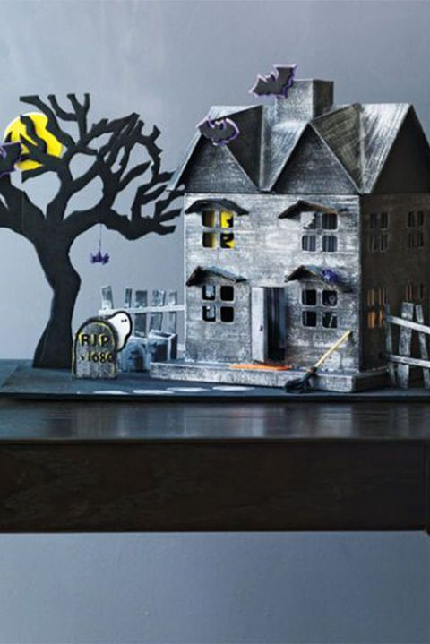 halloween crafts for kids haunted house