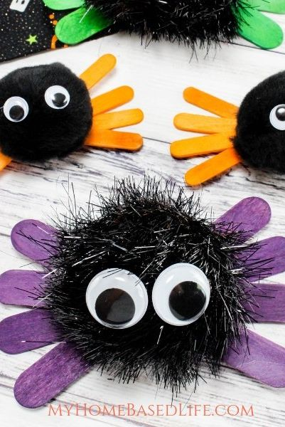halloween crafts for toddlers spiders