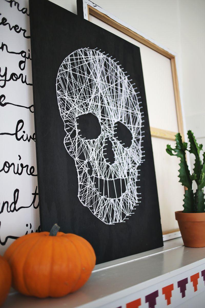 string skull art