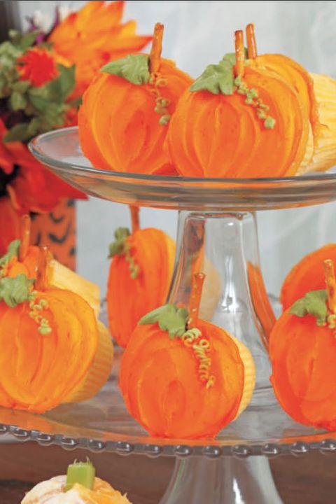 halloween cupcakes pumpkin patch