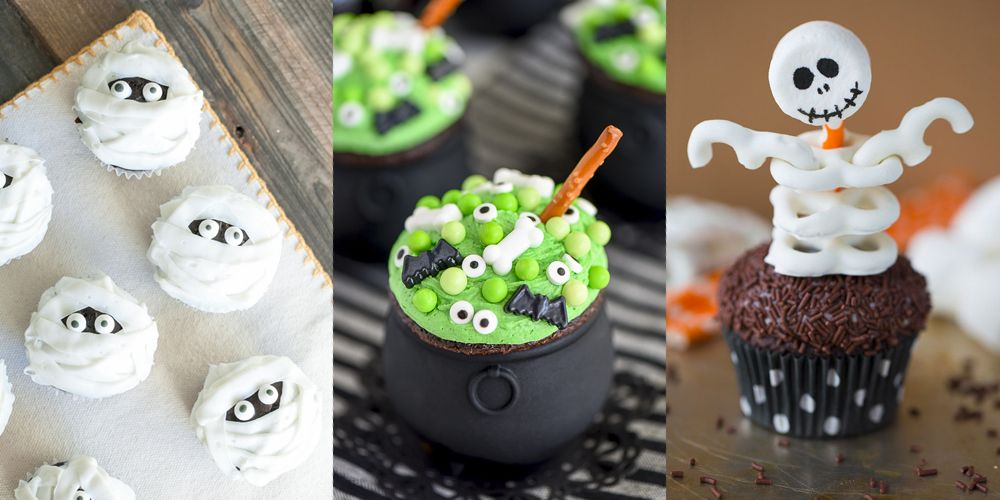 32 Cute Halloween Cupcakes Easy Recipes for Halloween Cupcake Ideas