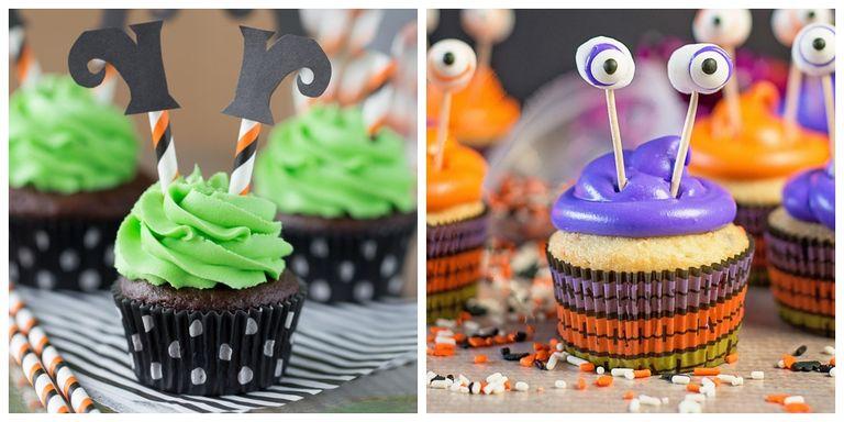 40 halloween cupcake ideas easy recipes for cute for Halloween mini cupcake decorating ideas
