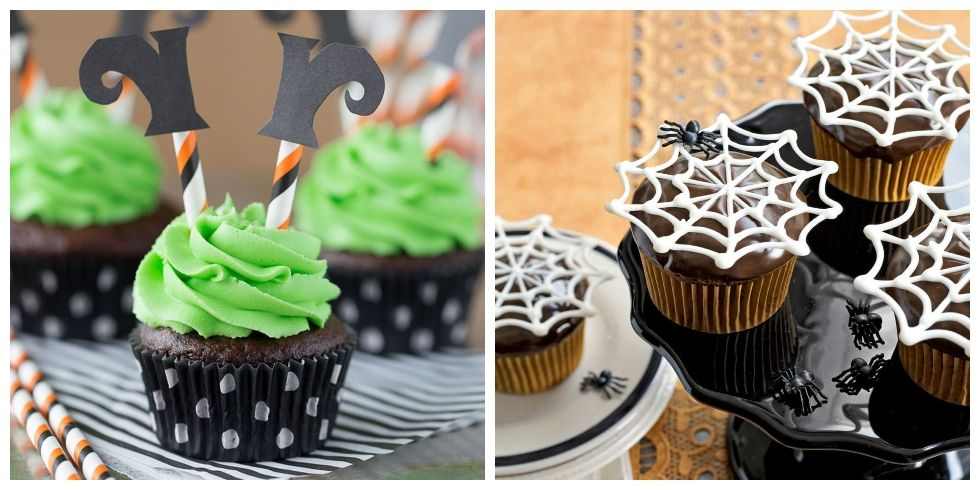 40 halloween cupcake ideas easy recipes for cute halloween cupcakes - Halloween decorations for cupcakes ...
