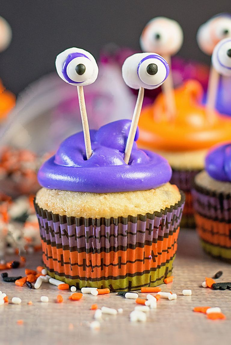 40 halloween cupcake ideas easy recipes for cute. Black Bedroom Furniture Sets. Home Design Ideas