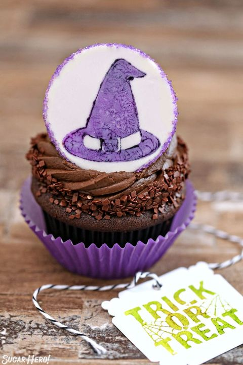 halloween cupcakes stamped