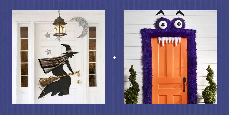 photograph about Printable Door Decs Templates called 25 Excellent Halloween Doorway Decorations - Do it yourself Entrance Doorway Addresses